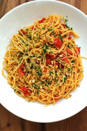 Pasta with Roasted Cherry Tomatoes