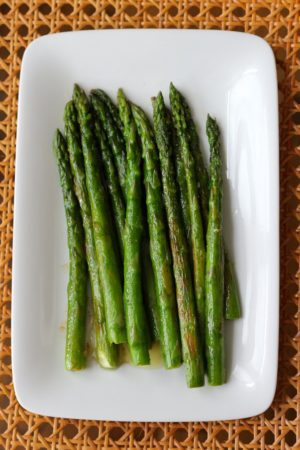 Asparagus with Lemon Brown Butter Sauce