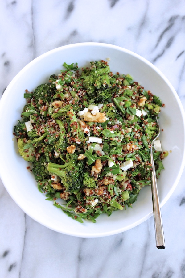 Quinoa-roasted-broccoli-arugula-salad