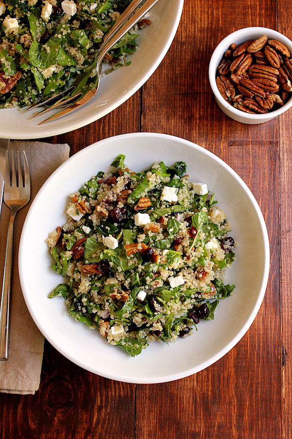 Quinoa kale cranberry and pecan salad green valley kitchen ccuart Images