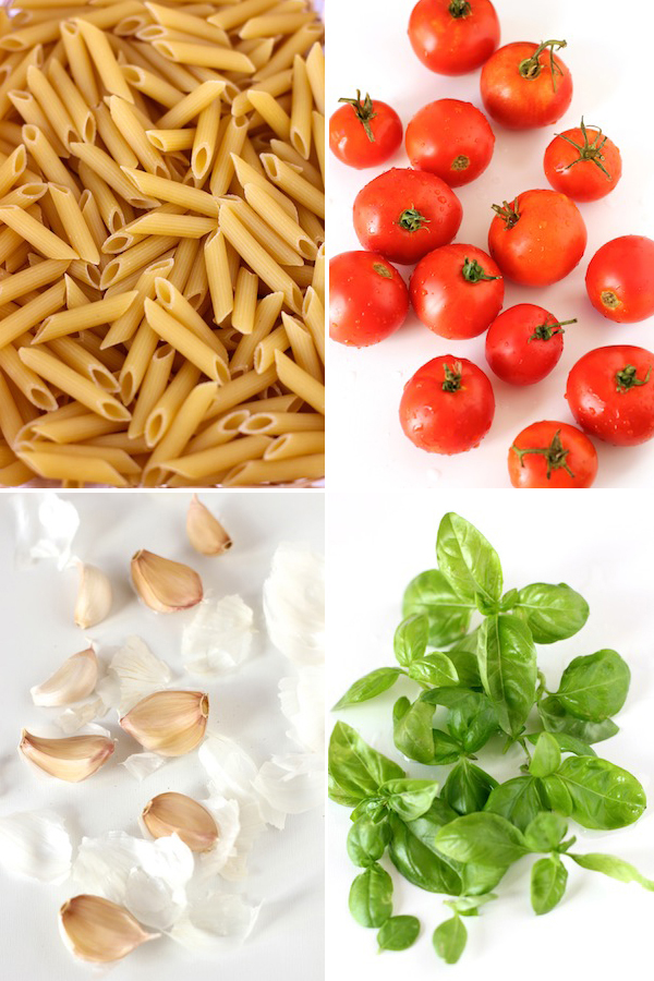 Pasta with Fresh Tomato Sauce - Ingredients