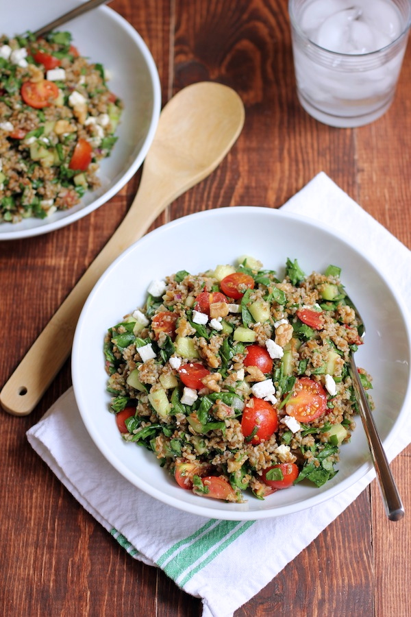 Bulgur-salad-with-cherry-tomatoes-cucumbers-and-spinach