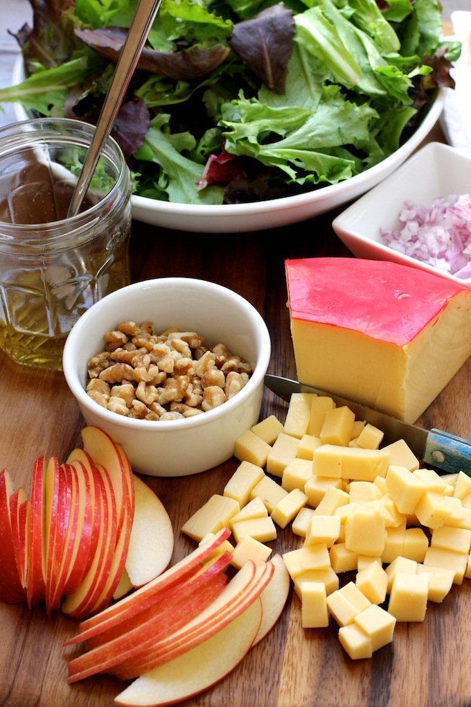 Apple Gouda Walnut Salad | Green Valley Kitchen