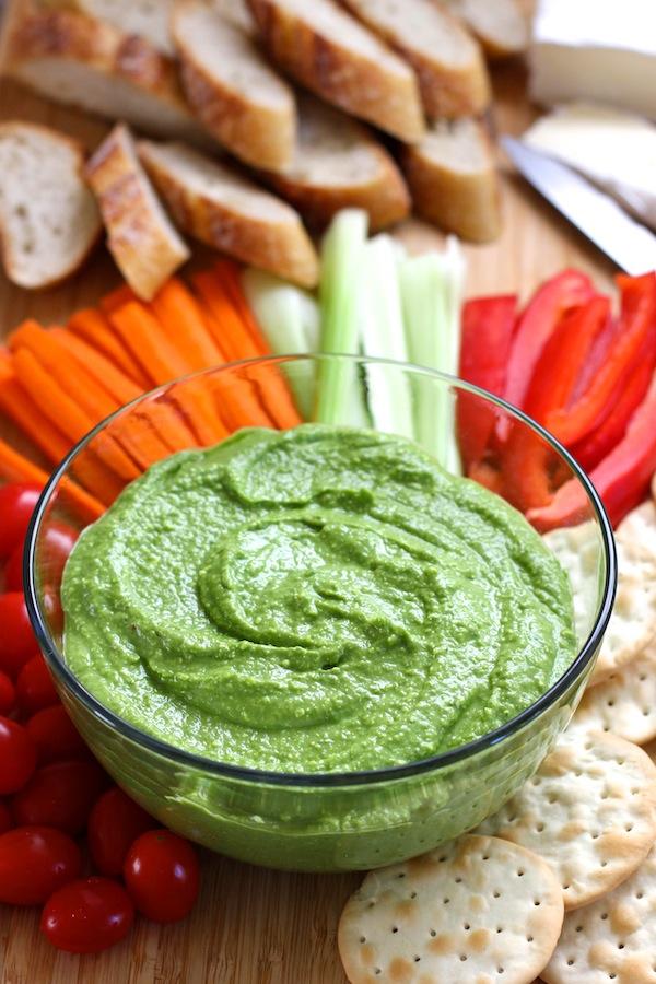 Spinach Feta Hummus | Green Valley Kitchen