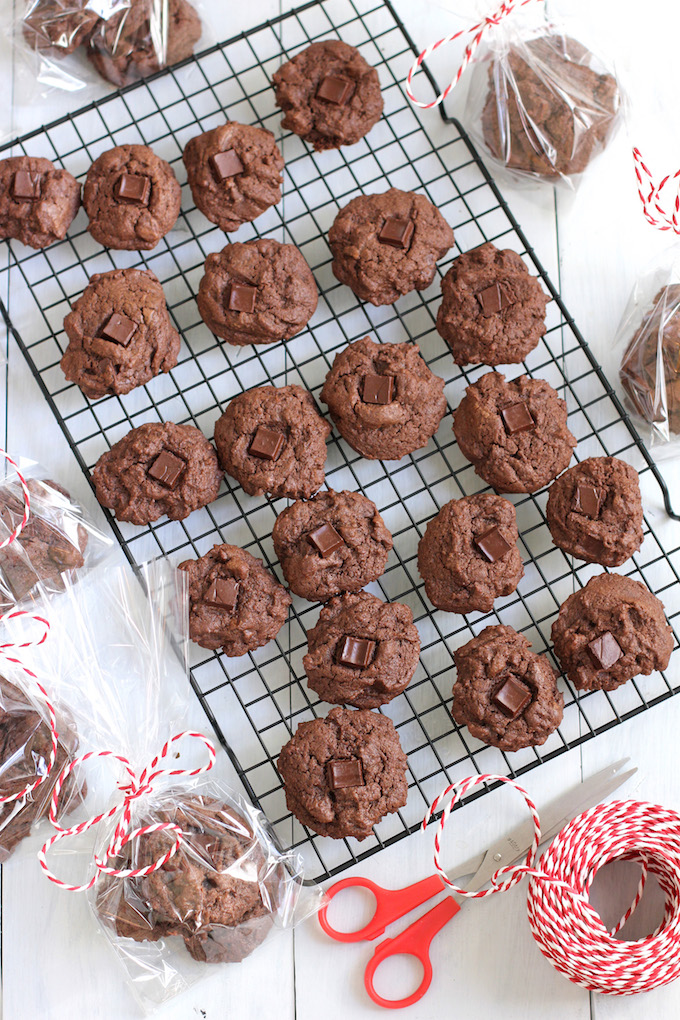 Double Chocolate Chunk Cookies | Green Valley Kitchen