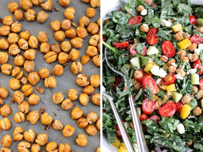 Chopped Salad with roasted chickpeas | Green Valley Kitchen