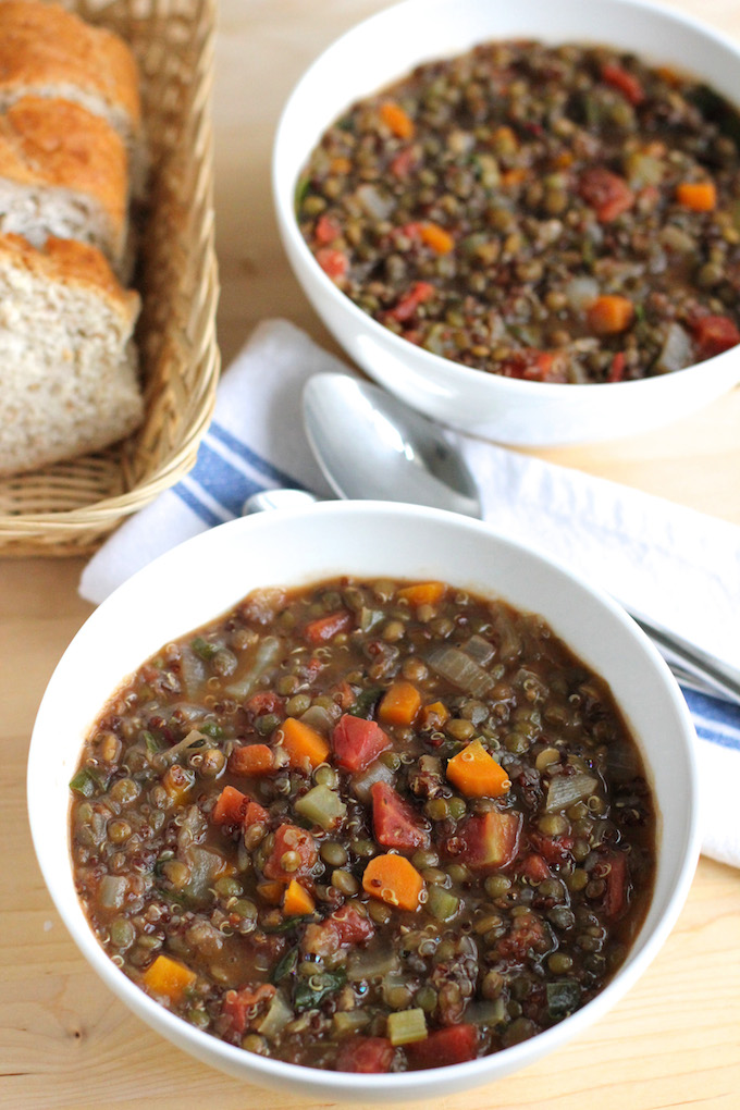 Lentil and Quinoa Soup | Green Valley Kitchen