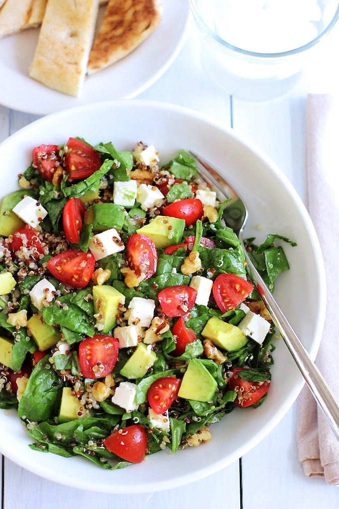 Quinoa Salad with Avocado, Cherry Tomatoes and Feta ...