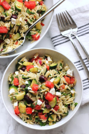 Mediterranean Orzo Salad | Green Valley Kitchen