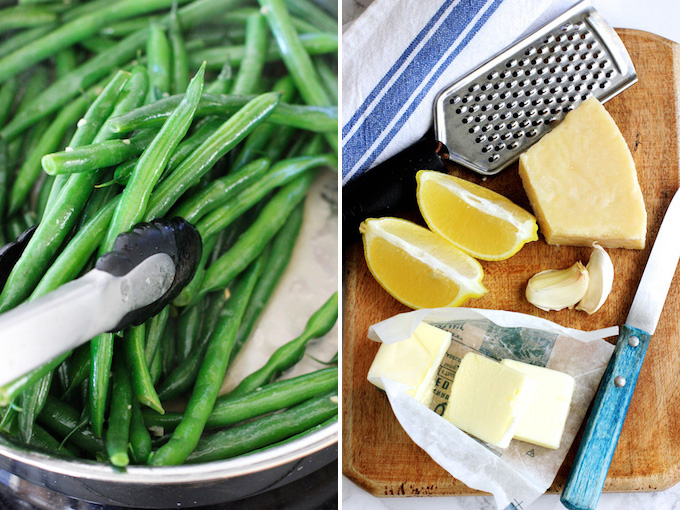 Green Beans with Parmesan and Lemon Butter Sauce | Green Valley Kitchen