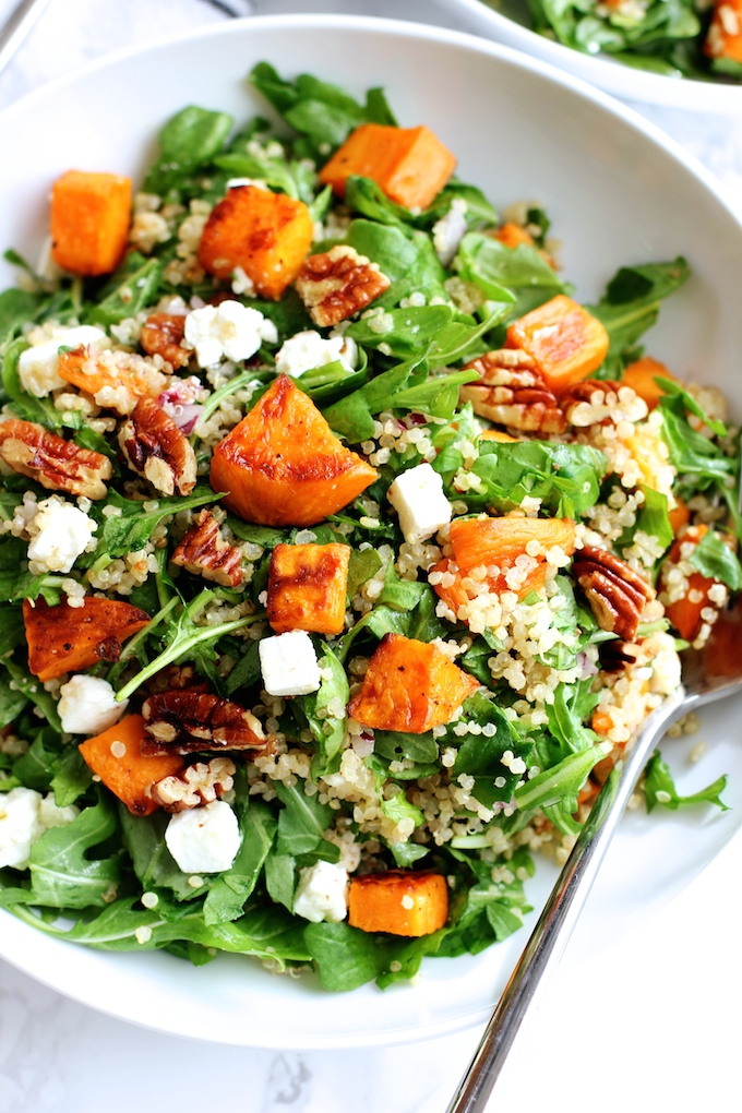 Roasted Sweet Potato and Quinoa Salad - Green Valley Kitchen