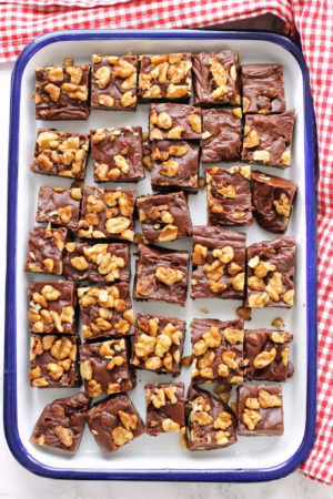 Chocolate Fudge with Candied Walnuts | Green Valley Kitchen